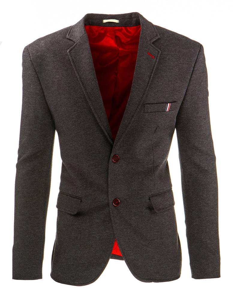 Šedé jednoradové pánske sako