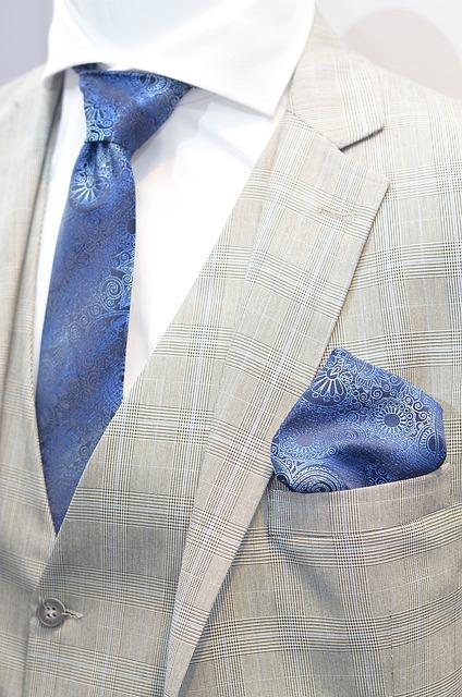 pánska kravata modrá so vzorom
