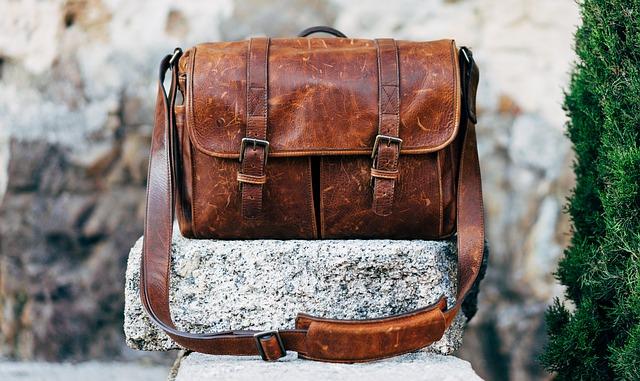 hnedá kožená pánska taška