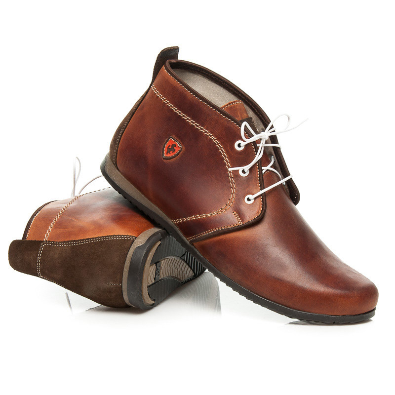 hnedé kožené pánske topánky