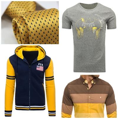 žltá farba použitá na oblečení