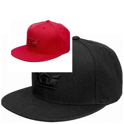 červená a čierna jednofarebná pánska šiltovka