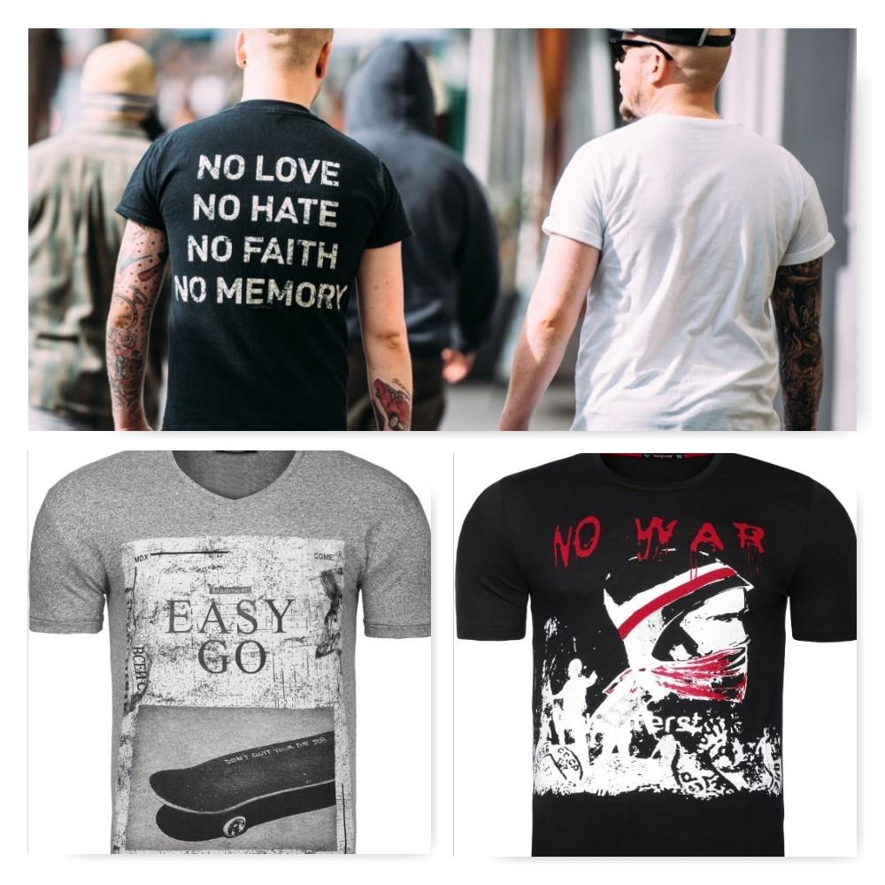 pánske tričká s nápismi