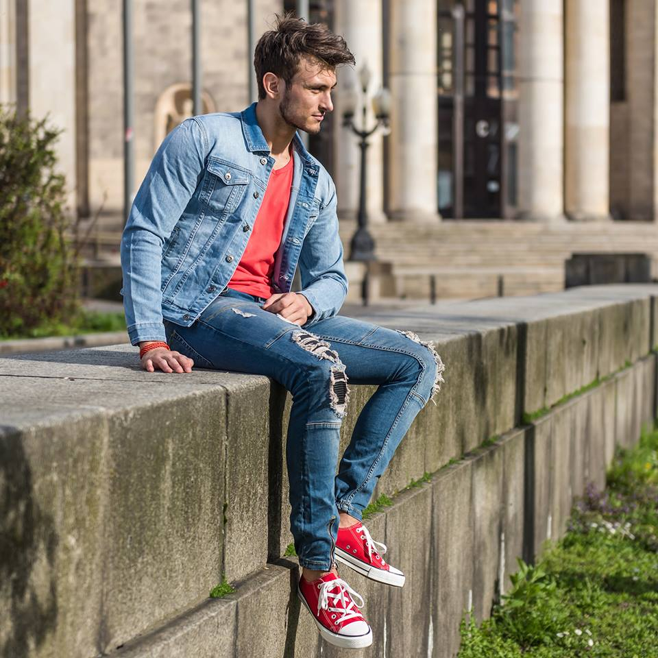 pánska džínsová bunda