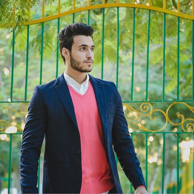 ružový pánsky sveter