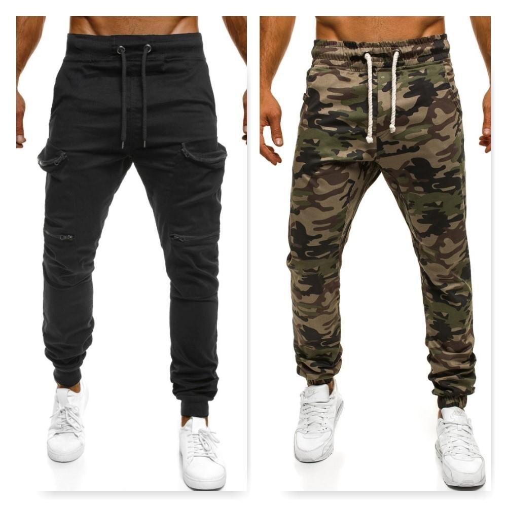 čierne baggy nohavice
