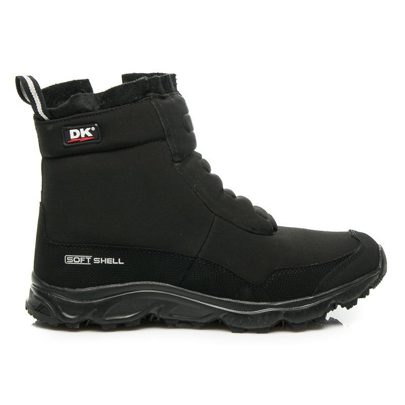 čierne zimné topánky pre pánov