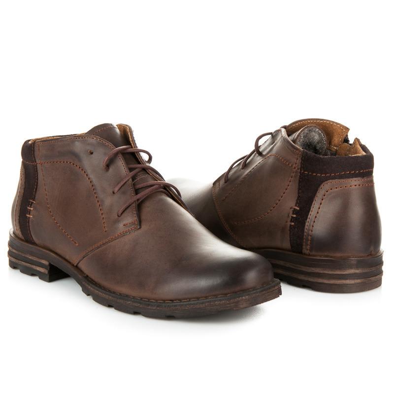 hnedé pánske topánky na zimu