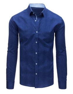 26fd44758fd6 -38% Skladom Modrá košeľa s originálnym vzorom ...