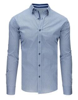 Bielo-granátová bodkovaná košeľa ... 20c4f23df1f