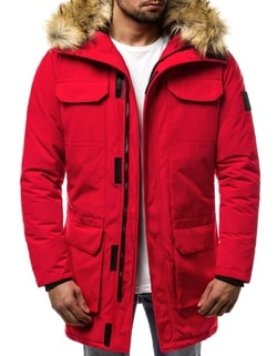 Doprava zdarma Skladom Trendy zimná pánska bunda červená OZONEE JS 201807  ... aa59d808190