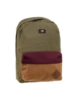 Khaki ruksak MN OLD SKOOL II BACK GRAPE LEAF COLORBLOCK