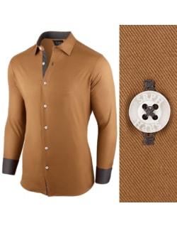 Skladom Pánska košeľa ťaviej farby s dlhým rukávom c054a01b9b0