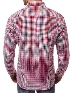da0bce5d4cdf ... Pohodlná kockovaná košeľa červená OZONEE V K100