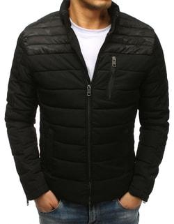 Skladom Prešívaná čierna zimná bunda v zaujímavom prevedení ... 4b3b5626114