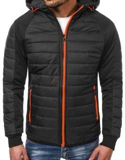 Jedinečná zimná pánska bunda čierna OZONEE JS TY11 ... e4736aab89b