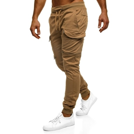 Kamelové trendy joggery ATHLETIC 475