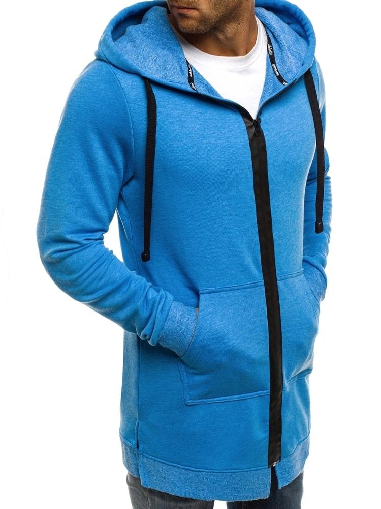 Žiarivá modrá mikina pre pánov ATHLETIC 0891 - Budchlap.sk d3ff6525a8e