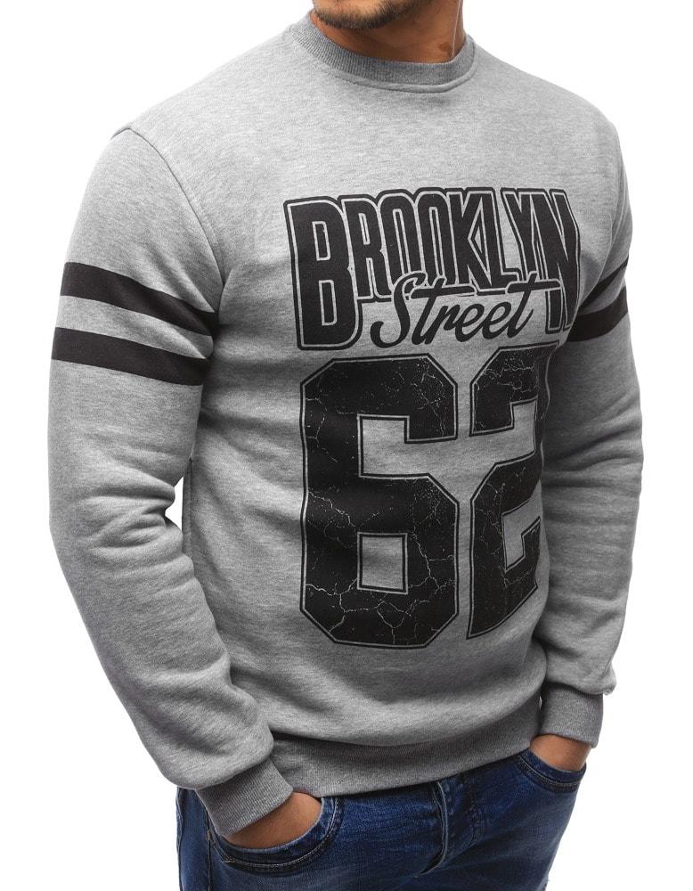 Sivá mikina Brooklyn - Budchlap.sk ad12a5c39e5