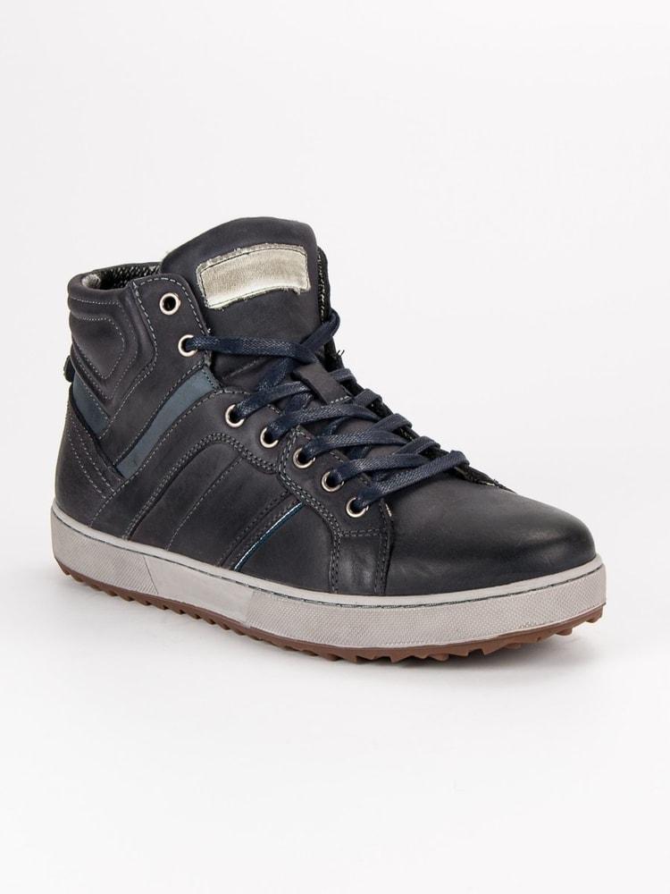 Pánske členkové topánky v čiernom odtieni - Budchlap.sk 4e795fd2d2f