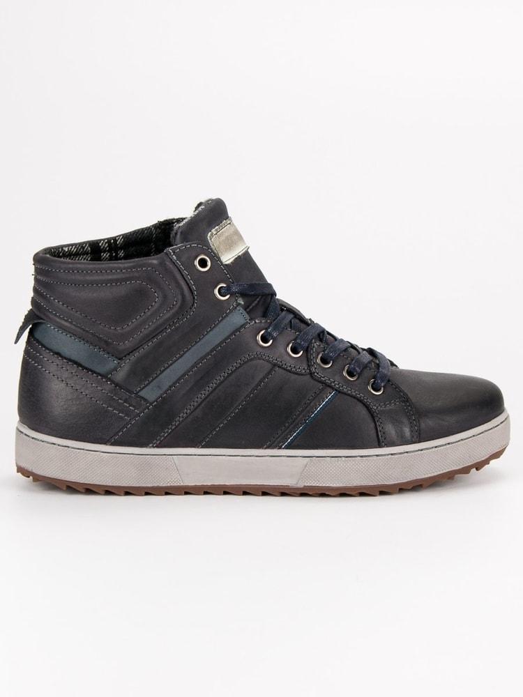 Pánske členkové topánky v čiernom odtieni - Budchlap.sk f7bd1d4c227