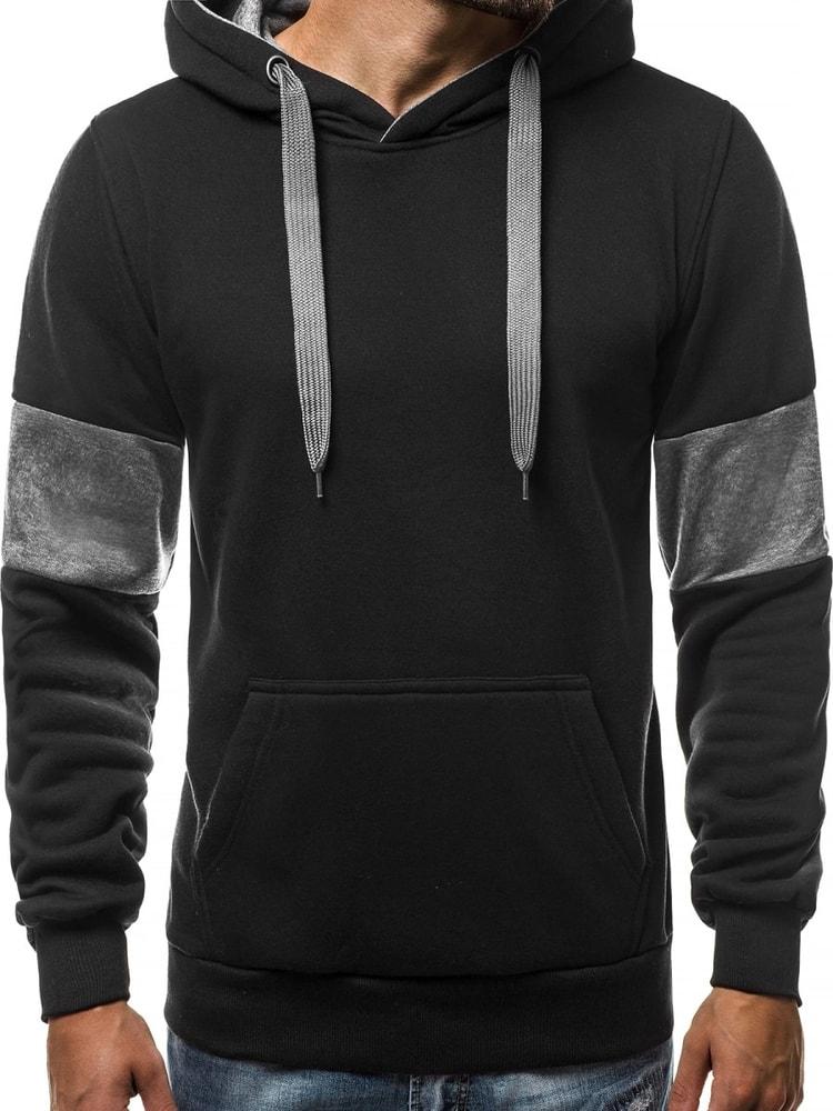 Čierna mikina s kapucňou OZONEE JS TR01 - Budchlap.sk badb0207223