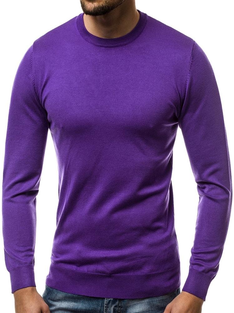 68185120c9ad Jednoduchý fialový sveter OZONEE BL M041 - Budchlap.sk
