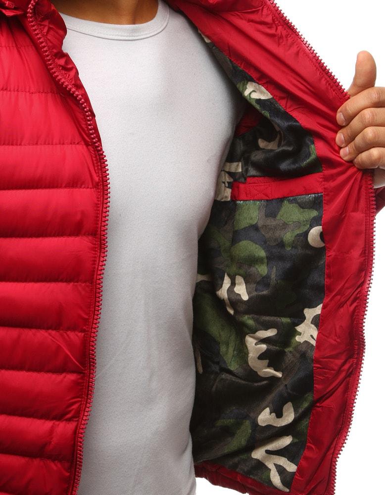 Senzačná zimná bunda v červenej farbe - Budchlap.sk 7d940ec2676