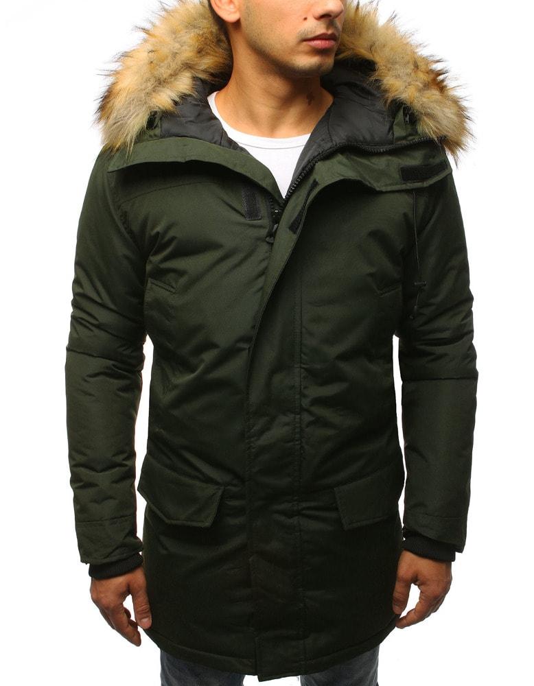 Štýlová zelená zimná bunda - Budchlap.sk d06494622b6