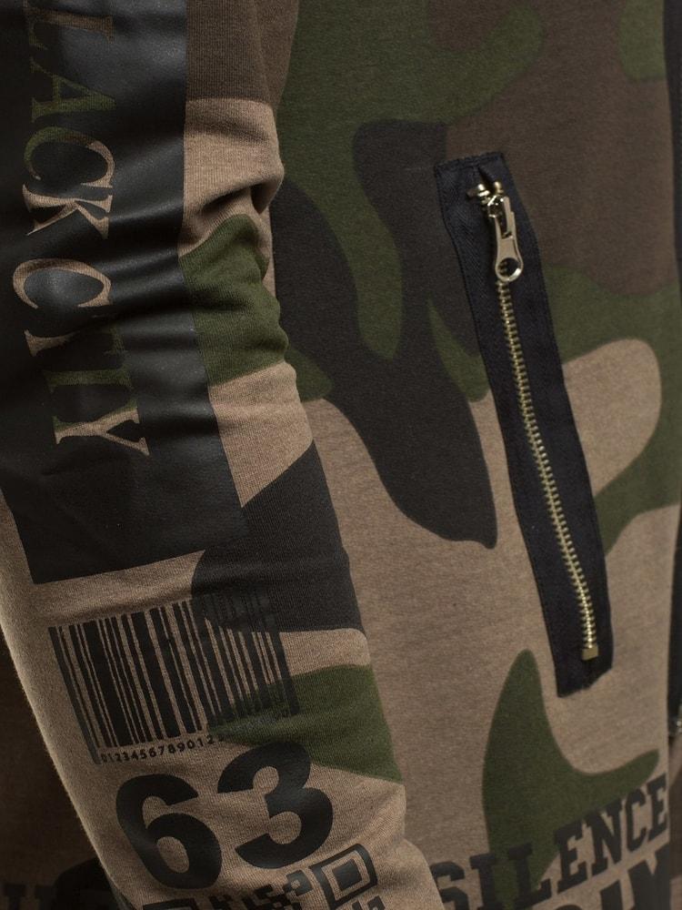 Moderná zelená predĺžená mikina ATHLETIC 900 - Budchlap.sk ee39966566d
