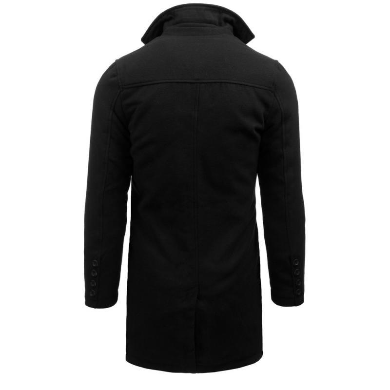 Čierny jednoradový dlhý kabát - Budchlap.sk 7b1178a3b28
