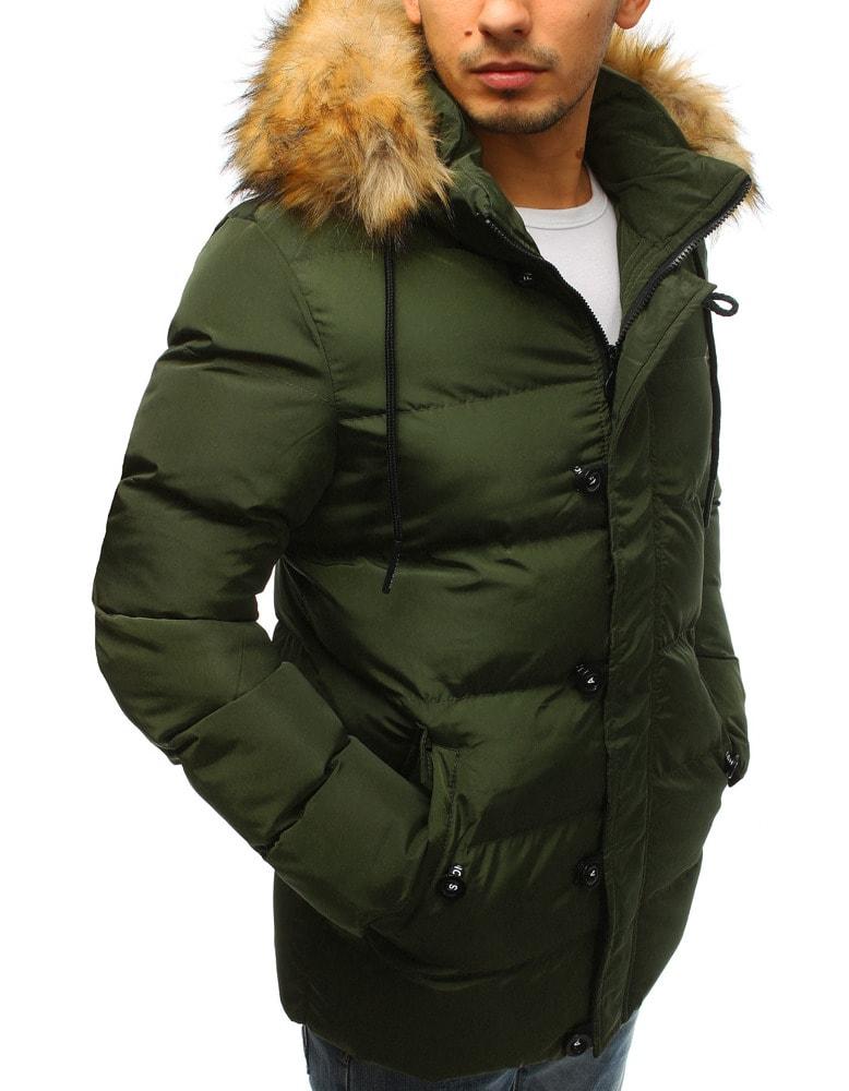 Klasická zelená prešívaná bunda - Budchlap.sk b12185d302c