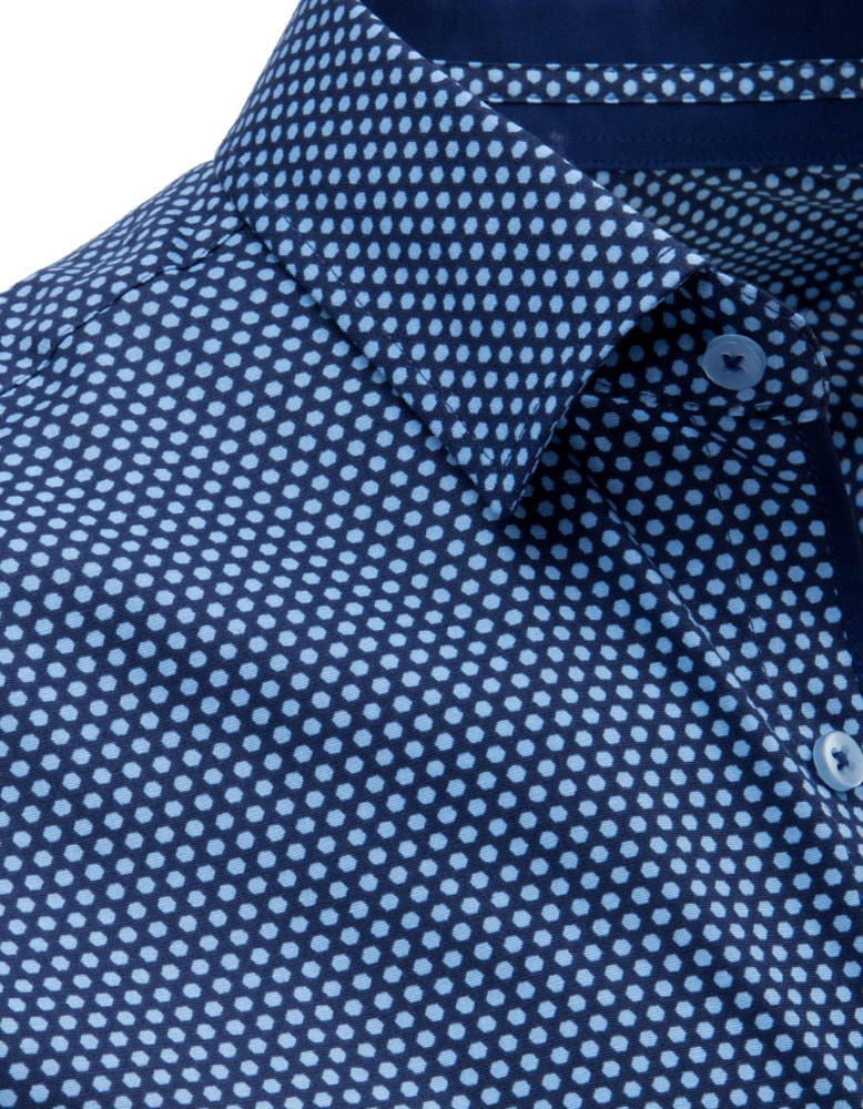 Jedinečná tmavo granátová košeľa so vzorom - Budchlap.sk 04e17ba6199