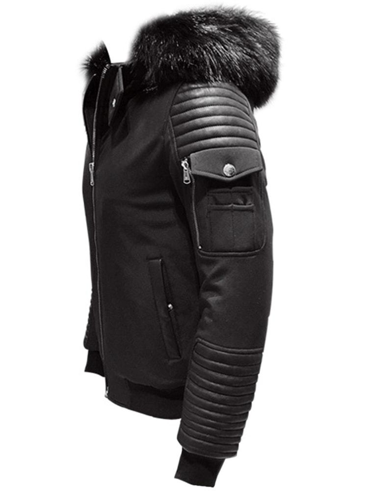 Štýlová čierna pánska bunda OZONEE O 99102 - Budchlap.sk 738396f4713