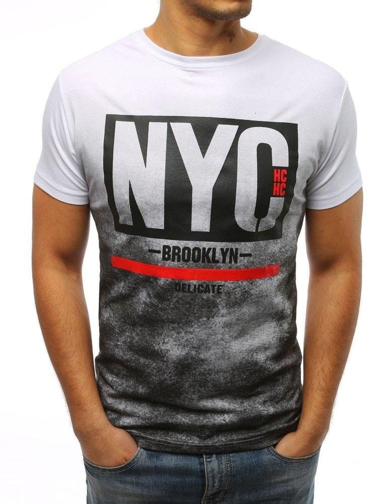 Biele pánske tričko s potlačou NYC - Budchlap.sk fc05f2f2418