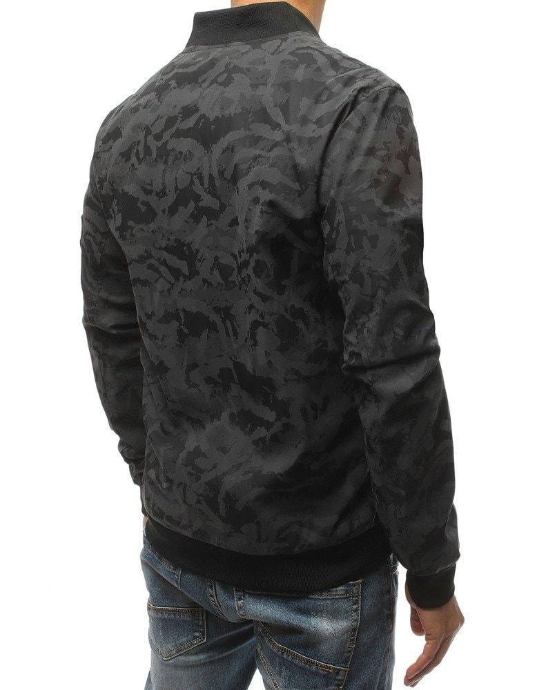 Čierno-šedá maskáčová bomber bunda - Budchlap.sk 525b9c0fa33