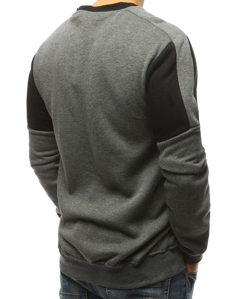 Jednoduchá čierno-šedá mikina - Budchlap.sk 8cf28bc9313