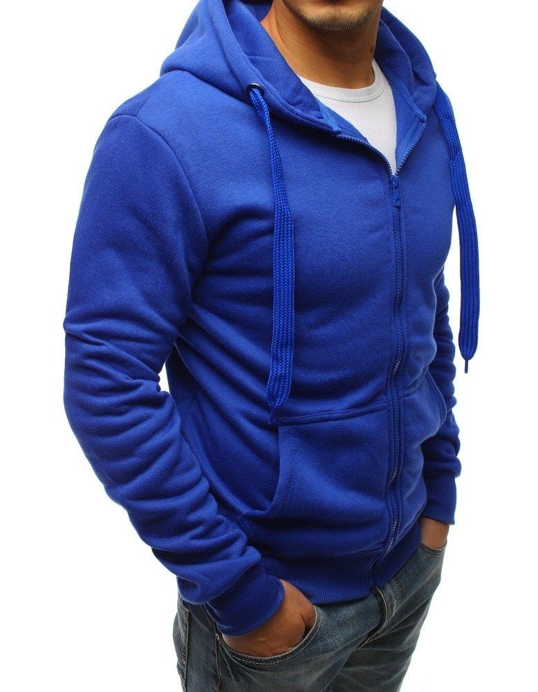 Jednofarbená pohodlná mikina modrá - Budchlap.sk e508ff580d6