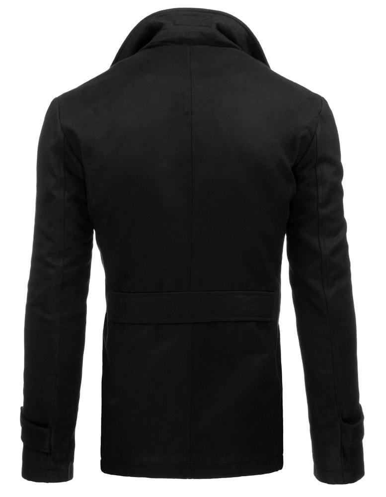 Zimný pánsky čierny kabát na jednoradové zapínanie 3141 - Budchlap.sk f5e03305b2f