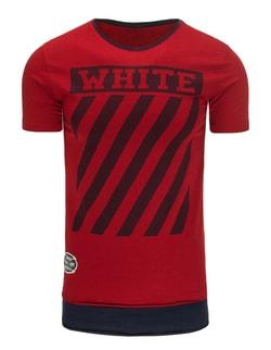 WHITE červené pánske tričko - XXL