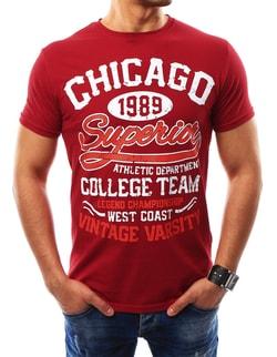 Fantastické červené tričko CHICAGO