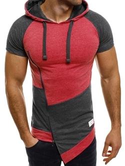 Dlhé pánske tričko ATHLETIC 1102 červené - XXL