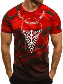Moderné červené tričko s maskáčovým vzorom BREEZY 545 - XXL