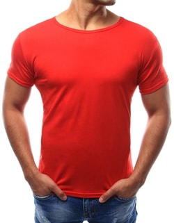 Červené jednoduché tričko - M
