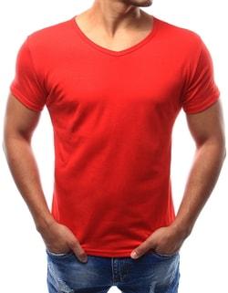 Atraktívne červené tričko - XL