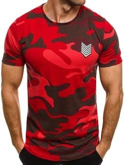Červené maskáčové tričko s nášivkou BREEZY 708 - XXL