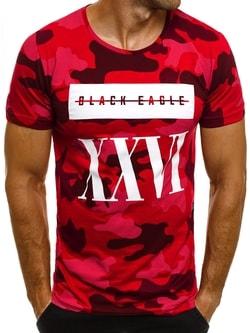 Výrazné červené tričko s rímskym číslom ATHLETIC 1099 - XXL