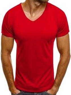 Trendové červené tričko J. STYLE 712007 - XXL