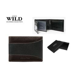 Peňaženka ALWAYS WILD v čierno-hnedej kombinácii
