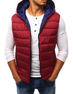 Červená pánska vesta s vreckami - XL